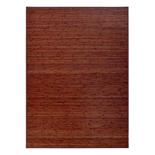 Alfombra de salon o Comedor Industrial marron de bambu de 180 x 250 cm Factory - LOLAhome