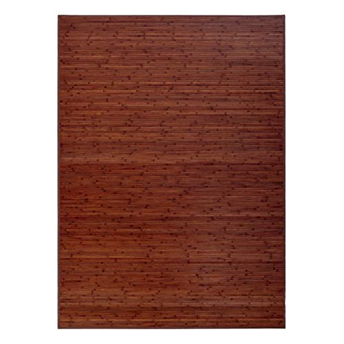Alfombra de salón o Comedor Industrial marrón de bambú de 180 x...
