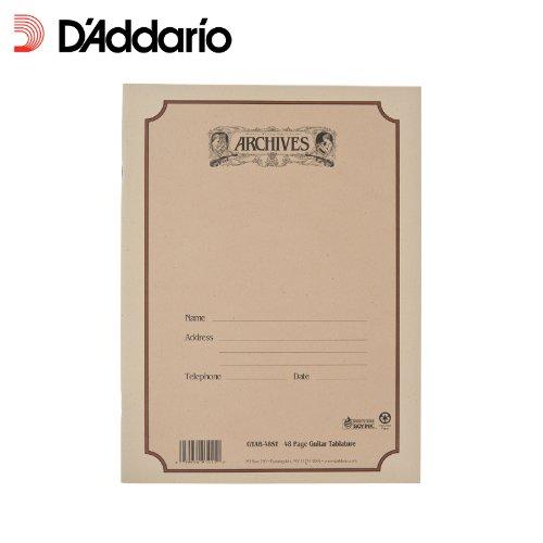 D'Addario GTAB-48ST gebundenes Notenbuch, 48 Blatt