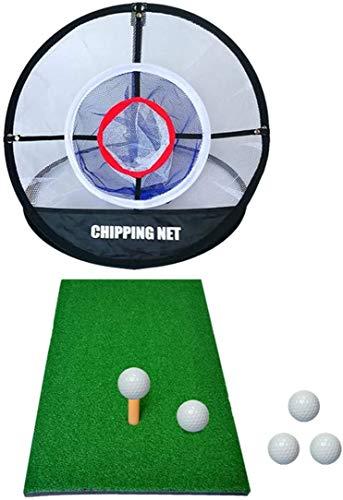 Woodtree Golf Schlagen Net- Golf Net for Garten Indoor Outdoor Golf Practice Net Sport Golf Trainingsgeräte for Hinterhof Tragbare Golf Cage Trainingshilfen mit Golf-Matte, Target und Carring Tasche