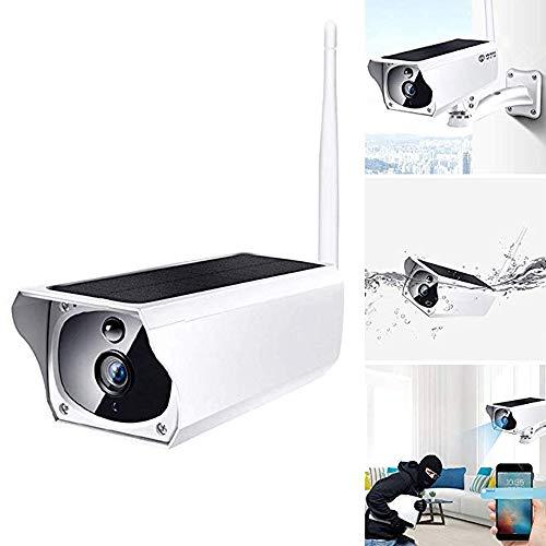 QMKJ WiFi Solar Überwachungskamera HD 1080P Qualität 200W Infrarot Nachtsicht 67 Level wasserdicht und staubdicht Unterstützung 64G TF-Karte