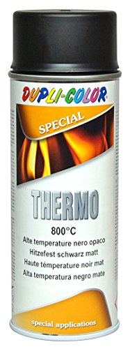DUPLI COLOR 401052 Thermo Lack Spray, 800 Grad Celsius, 400 ml, schwarz matt