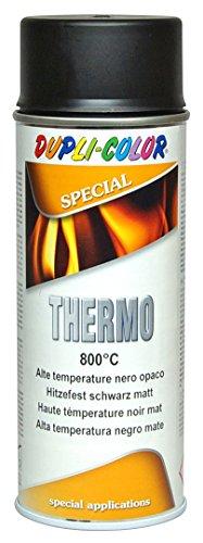 DUPLI COLOR 401052Thermo Lack Spray, 800Grad Celsius, 400ml, schwarz matt