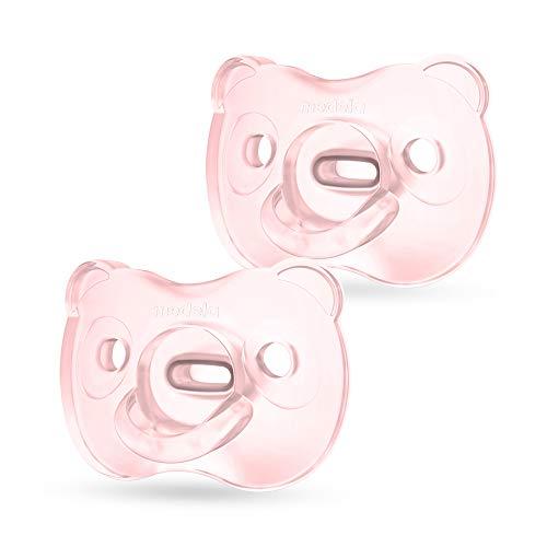Medela Baby Soft Silicone Schnuller – Für Babys von 6-18 Monaten – 2 Stück