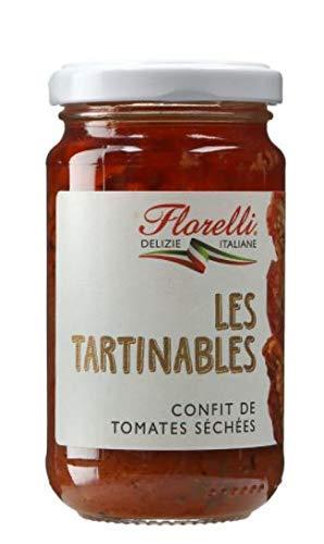 FIORELLI Tartinables Confit De Tomates Séchées 190g -Delicado e inimitable sabor de tomate seco que aportará un sabor gourmet y soleado a todos tus platos