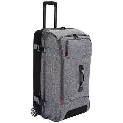 AmazonBasics Rolling Travel Duffel Bag Luggage with Wheels, Large, Grey