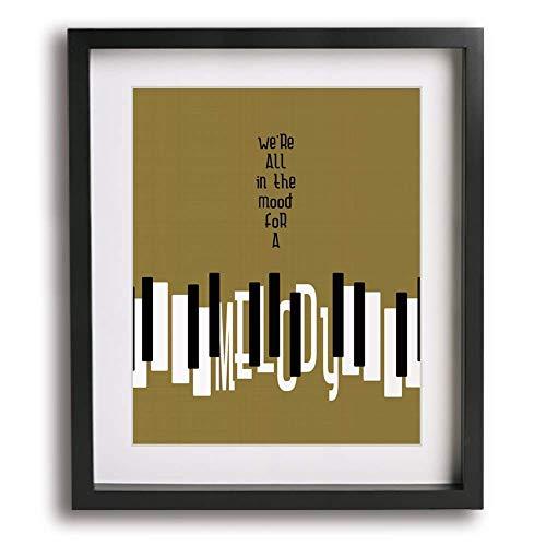 Piano Man by Billy Joel inspired song lyric wall art print, mid century modern music poster home decor birthday gift idea