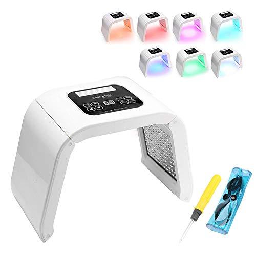 7colores LED Fotodinámica Facial - LED Piel Cuidado eléctrica, Rejuvenecedor facial - buen regalo para mamá, Rejuvenecimiento de la piel Anti-arrugas Anti-acné Apriete de la Piel Limpieza facial