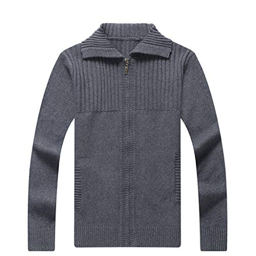 %54 OFF! Men's Knitted Winter Fashion Knitted Cardigan Sweater Coat Fashion Warm Sweaters Gray