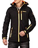 Geographical Norway Bans Production - Chaqueta softshell con capucha desmontable para hombre Negro L