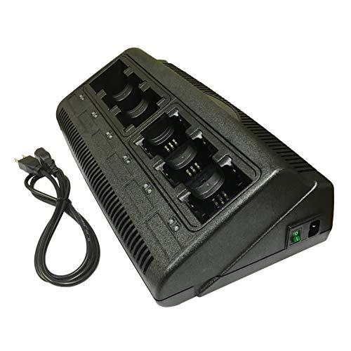 ProMaxPower 6 Ports Banks Two-Way Radio Battery Charger for Motorola Li-Ion & Ni-Mh NNTN4497 NNTN4970 Li-ion CP200 CP200D CP250 EP4500 PR400