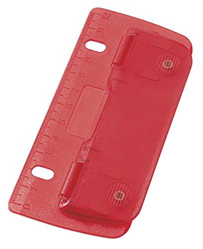 Wedo Perforateur de poche en plastique 2 trous Rouge