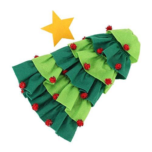 Bolsa de Botella de Vino, patrón de árbol de Navidad Bolsas de Botella de Vino Decoración de Mesa Bolsa de Botella de Vino de Navidad, Adornos de Navidad para Fiesta Decoración(Green)