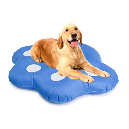 Milliard Dog Pool Float Inflatable Ride On Puppy Paw Raft for Pets Swimming