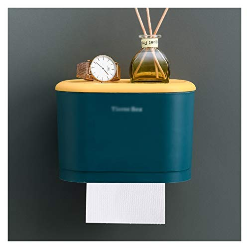 Xiaokeai Titular de Tejido Dispensador de Tejido de plástico Caja Organizador de servilletas para baño, Cocina y Pared de Pared Caja de servilletas multifunción de Pared (sin Golpe) (Color : B)