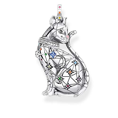 THOMAS SABO Anhänger Katze Sternenbild Silber, PE883-340-7, 3.7, Mehrfarbig