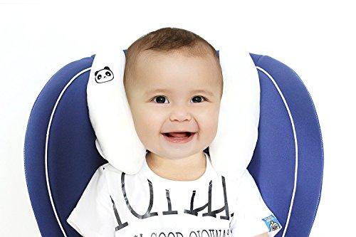 Vine Bebé Viaje Almohadilla Soporte para Cabeza Cojín cervical Niños almohada de asiento de coche Viaje Cochecito Cojín,Blanco