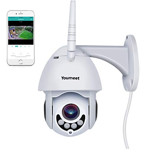 Outdoor Camera WiFi, Youmeet 1080P Motion/Sound Detection WiFi Security Cameras,Two Way Audio WiFi Camera Outdoor,Night Vision Wireless IP Camera, Works on Smart Phones (SD Card Included)