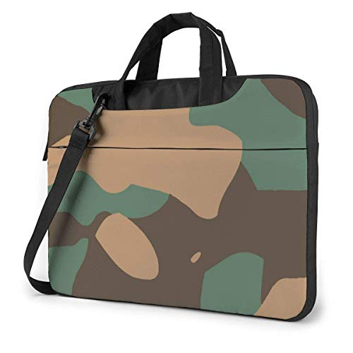 Laptop Bag Satchel Tablet,Camo Green Laptop Sleeve Case,Laptop Shoulder Messenger Bag Case Sleeve For Business Casual or School Ultra Thin Durable
