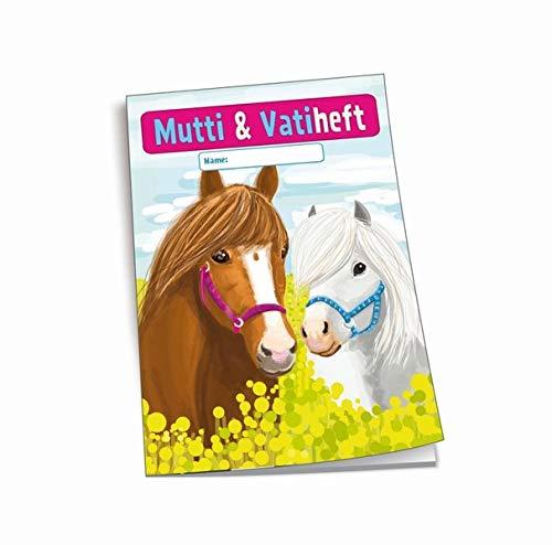 Trötsch Mutti und Vatiheft Pferde: A6, 48 linierte Seiten, mit Klarsichtumschlag