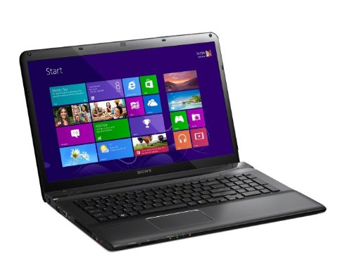 Sony VAIO SVE1712Z1EB 43,9 cm (17,3 Zoll) Laptop (Intel Core i7 3632QM, 2,2GHz, 8GB RAM, 1000GB HDD, AMD HD 7650M (2GB), Blu-ray Brenner, Win 8) schwarz