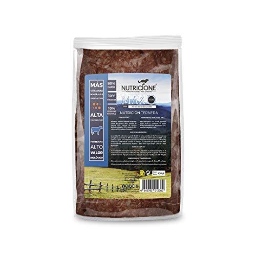 Nutricione - Barf MAX Vital menú Completo Ternera congelado 5kg (10 Paquetes de 500gr)