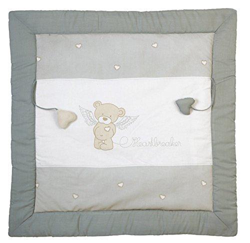 roba Tapis d'éveil 'Heartbreaker', manette de jeu bébé / tour de parc 100x100cm, 100% coton, avec éléments de jeu.