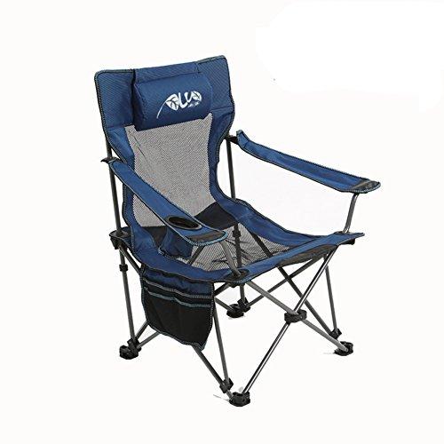 Be&xn Sillas de Camping plegables exteriores, Reclinables Lounge Chair Portátil Camping Barbecue Silla de Playa Silla de Pesca-A W50xH89cm(20x35inch)