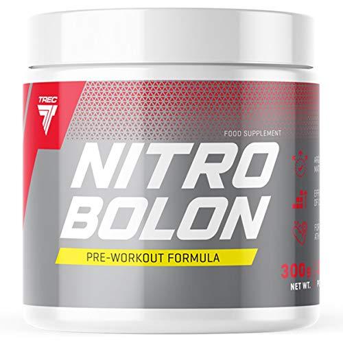 Trec Nutrition Nitrobolon Paquete de 1 x 300g - Pre Workout Formula - Creatina - Taurina - Arginina - Glutamina - Citrulina - Suplemento con Aminoácidos (Orange)