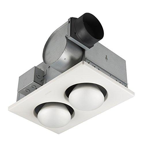 Broan-NuTone 164 Type IC Infrared Two-Bulb Ceiling Heater with Fan, 250 Watt