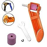 Diamantbohrkrone Schleifwerkzeug, tragbarer Bohrer Schleifen, Spiralbohrer Schleifmaschine Schleifwerkzeug mit Schlüssel, 658SJ-SYY907024-orange, Orange