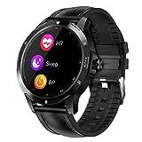 BNMY Smartwatch Fitness Tracker, Temperatura Corporal/Frecuencia Cardíaca/Presión Arterial/Sueño/Clima/Llamada/Recordatorio De Información/Ejercicio/Impermeable para Android iOS,E