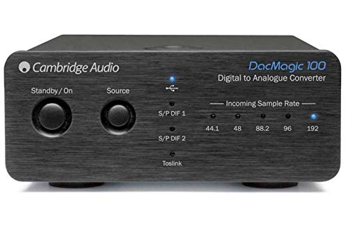 Cambridge Audio DacMagic 100 – Convertitore digitale analogico con audio USB, supporta fino a 24-bit/192kHz