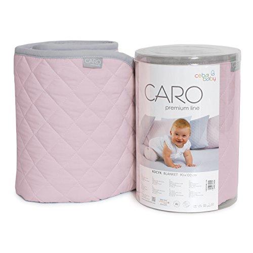 ceba Baby w-813 – 079 – 137 Blanket cher Pink, Mint, Blue, Grey, Pink