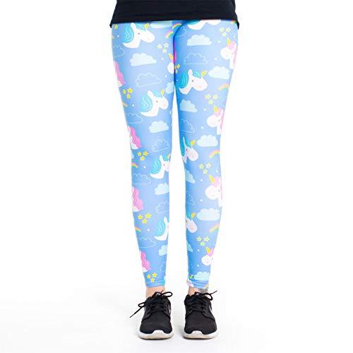 cosey - Leggings Coloridos Impresos (Talla única) - Design Unicornio Celestial