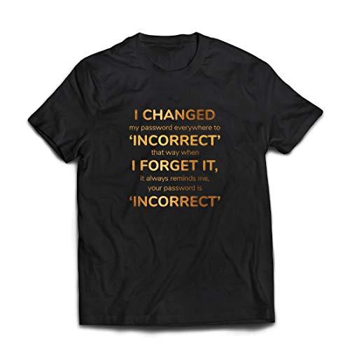 lepni.me Camisetas Hombre Cómo Crear una contraseña Segura, Programador, Jugador, Regalo Divertido de Internet (XXX-Large Negro Multicolor)