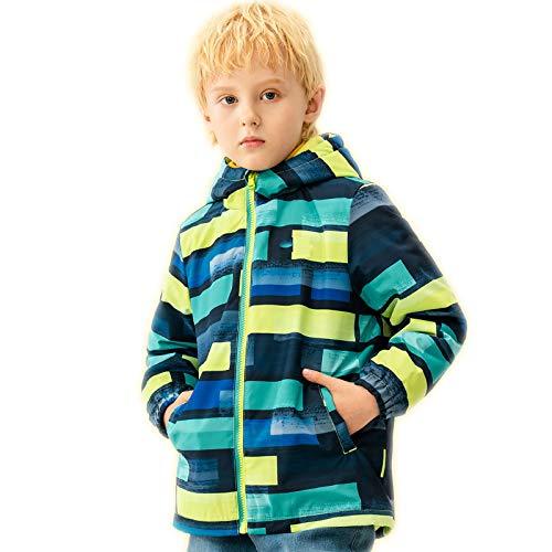 Jungen Plus Fleece Polar Fleece Windjacke Jacke Herbst Und Winter, Große Kinder Dicke Warme Kapuze Windjacke,3XL