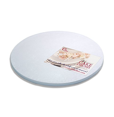 Cake Drums Round 14 Inches - (White, 1-Pack) - Sturdy 1/2 Inch Thick - Professional Smooth Straight Edges