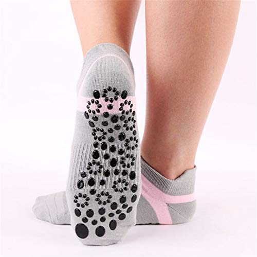 Mujeres Deportes Fitness Calcetines de yoga Cabeza redonda Algodón antideslizante Transpirable Transpirable Calcetines Ventilación Pilates Ballet Calcetines Dance Sock (Color : B)