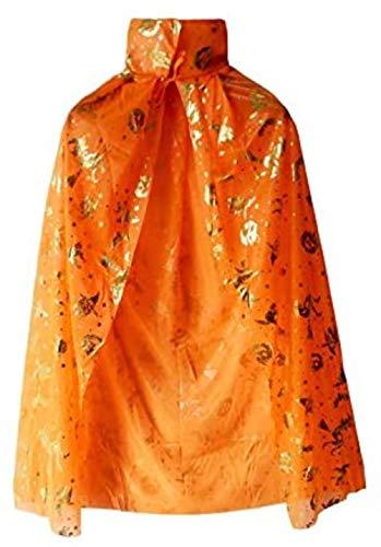 JZSS Halloween Cloak Halloween Cloak/Death Knight/Devil Ghost Costume, Halloween Party Cosplay Decoration (Color : Orange, Size : Medium)