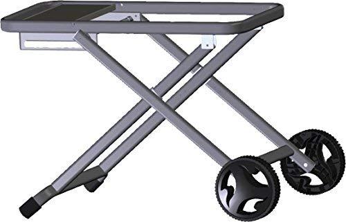 LANDMANN Pantera Falt-Trolley | Faltbarer Trolley geeignet für Landmann Pantera 1.0 & 2.0 | Schnelle und einfache Befestigung & Entnahme | Große Räder & inkl. Besteckhalter [Stahlblech]