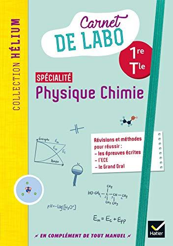 Physique chimie 1re/Tle - Éd. 2020 - Carnet de labo élève
