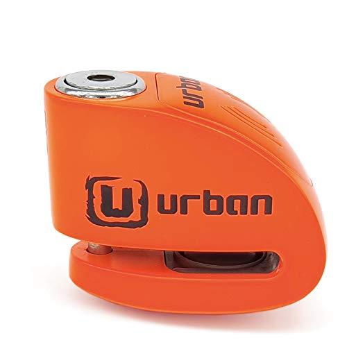 Urban Security UR906N Candado Antirrobo Moto Disco Alarma 120 db, Naranja flúor 6