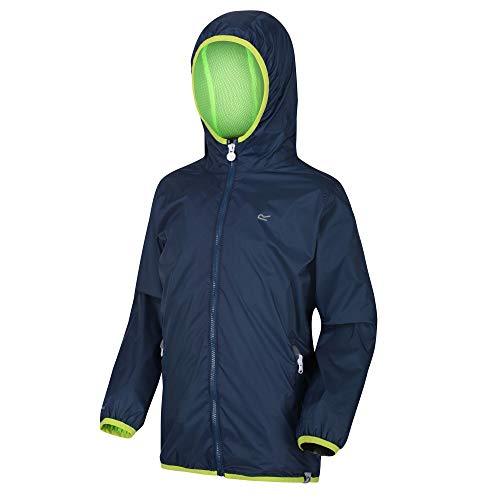 Regatta Ciré Technique Junior Lever II Jackets Waterproof Shell Mixte Enfant, Dark Denim, FR : 2XL (Taille Fabricant : 11-12)