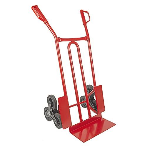 TRESTLES S01HS Rot Sackkarre   Treppensteiger   Sternräder   Stahlgestänge   pannensicheres Rad   250 kg Tragkraft   Made in EU