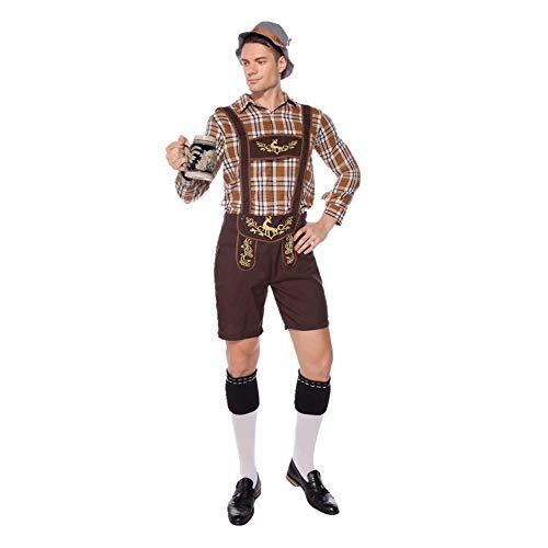 CHANGL Karneval Männer Deutschland Bayerischer Barkeeper Cosplay Das Münchner Oktoberfest Lederhosen Kostüm Taverne Fancy Party