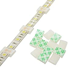 Strip Light Mounting Clips Self-Adhesive Strip Brackets Holder,100-Pack Clamps Fix Light Strip 8mm 10mm 12mm (for 10mm(3/8...
