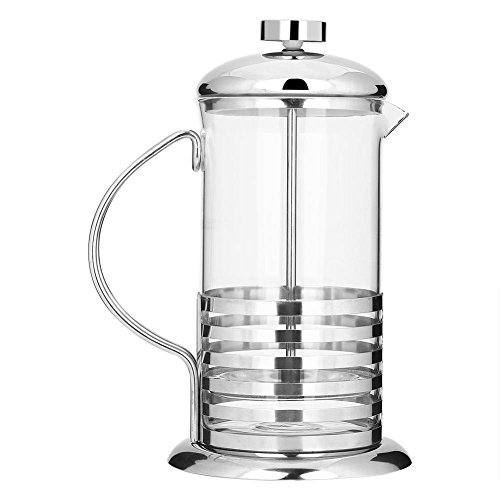 Taidda- Kaffeetasse Getränketopf, 600ml/800ml Tragbare Edelstahlglas French Press Kaffeetasse Pot Plunger Tea Maker(1#)