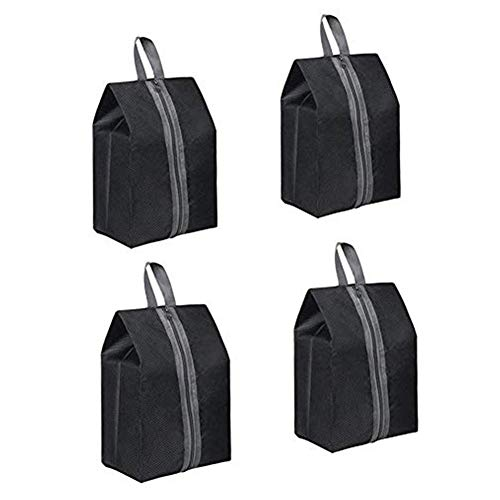 PetKids Shoe Storage Bag Made of Nylon with Zip Closure, Dustproof with Waterproof Transparent Window Pack of 4.38 x 20 cm