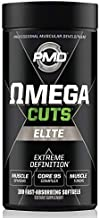 PMD Sports Omega CUTS Elite - Thermogenic Fat Burner - Zero Stimulant Omega Fatty Acid and CLA Formula for Muscle Definition and Maintenance Keto Friendly for Women and Men (180 Softgels)